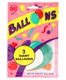 BK Balloons Giant Sized Balloons 3 Pieces - Multi Color