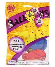 BK Balloons Congratulations Theme Balloons - Pack Of 10 Pieces