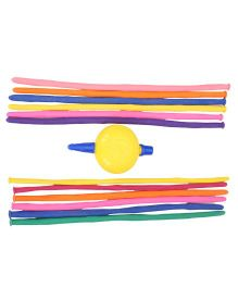 BK Balloons Modelling Balloon With Pump - Pack Of 12 Pieces