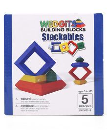 Wedgits Building Blocks Stackables - 5 Pieces