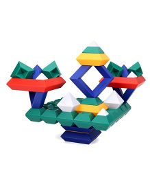 Wedgits Construction Blocks Set Multicolor -  50 Pieces