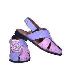 Pre Order Brush Strokes Hand Painted Sandals Unicorn Design - Pink & Purple