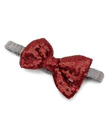 A.T.U.N. Sequins Classic Bow Headband - Copper & Silver