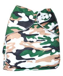 ChuddyBuddy Cloth Diaper With Insert With Soldier Print - Green