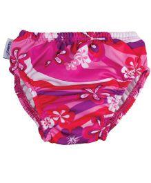 Finis Reusable Swim Diaper Floral Print Pink - Medium