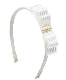 Ribbon Candy Loopy Hairband - White