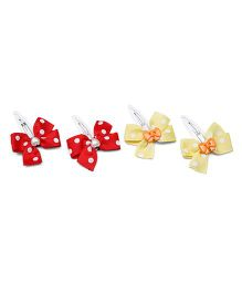 Ribbon Candy Bow & Heart Tic Tacs Combo Set - Red & Yellow