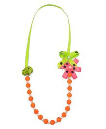 Ribbon Candy Beads Necklace - Orange