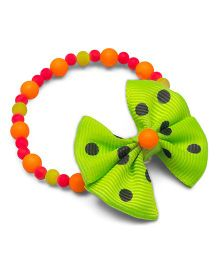 Ribbon Candy Beads Bracelet - Neon Green