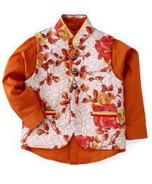 Robo Fry Full Sleeves Shirt With Jacket - Orange