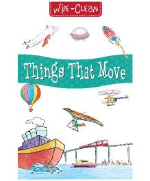 Pegasus Things That Move Wipe & Clean Board Book - English