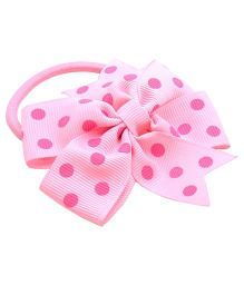 NeedyBee Polka Dot Ribbon Rubberband - Pink