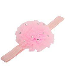 NeedyBee Flower Bow Headband - Light Pink