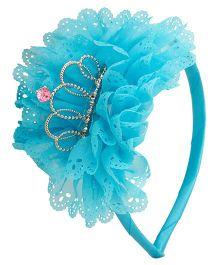 NeedyBee Beautiful Flower Bow Baby Girl Hair Band - Blue
