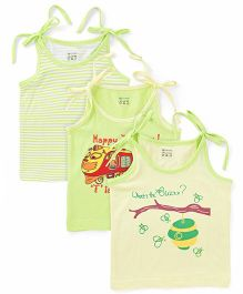 Ohms Singlet Jhabla  Pack of 3 - Light Green