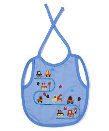 Ohms Full Chest Waterproof Bib Vehicle Print - Light  Blue