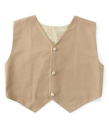 Pop Goes the Art Reversible Vest Coat - Khaki