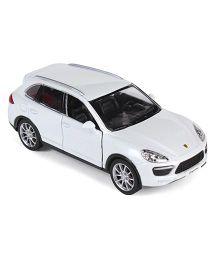 RMZ Porsche Cayenne Turbo Die Cast Car - White