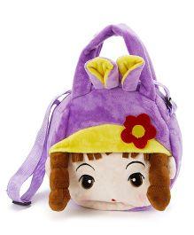 Wow Kiddos Doll With Pony Side Sling Bag - Purple