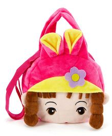 Wow Kiddos Doll With Pony Side Sling Bag - Dark Pink
