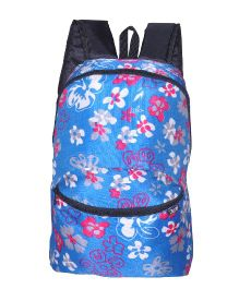 Avon Backpack Floral Print Turquoise Blue Pink - 15 Inches