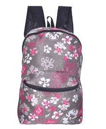 Avon Backpack Floral Print Grey Pink - 15 Inches