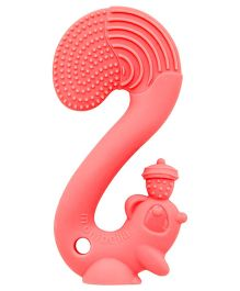Mombella Squirrel Silicon Teether - Red