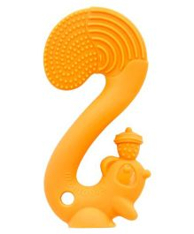 Mombella Squirrel Silicon Teether - Orange