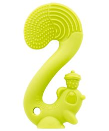 Mombella Squirrel Silicon Teether - Green