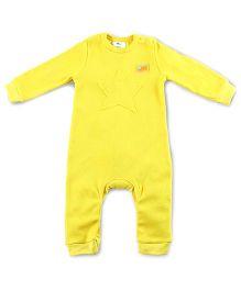 Cherry Crumble California Waffle Applique Bodysuit - Sunshine Yellow