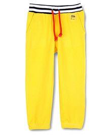 Cherry Crumble California Waffle Track Pant For Girls - Sunshine Yellow