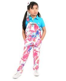 Cherry Crumble California Twill Dungaree For Girls - Multicolor