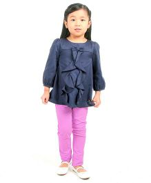 Cherry Crumble California Trouser For Girls - Purple