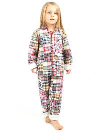 Cherry Crumble California Night Suit For Girls - Pink