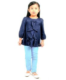 Cherry Crumble California Jeans For Girls - Sky Blue