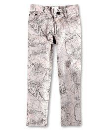 Cherry Crumble California Trouser For Girls - Dark Grey