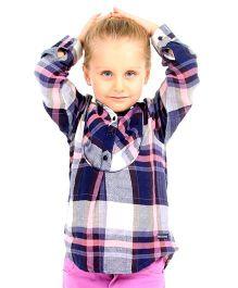 Cherry Crumble California Shirt Top For Girls - Multicolour