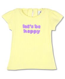 Cherry Crumble California Soft Cotton Top For Girls - Yellow