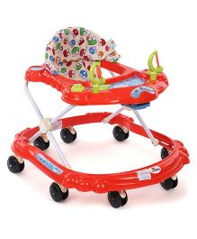 Sunbaby Butterfly Baby Walker Froggy Face Print- Red