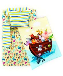 Fancy Fluff 6 Piece Premium Baby Mattress Set Noah's Ark Design - Multicolour