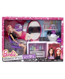 Barbie Sparkle Style Salon With Doll Set Multicolor - Height 29 cm