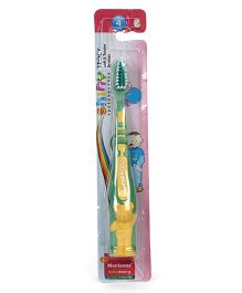 Morisons Baby Dreams Shiny Teddy Tooth Brush - Green Yellow