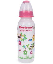 Morisons Baby Dreams Tree House Polypropylene Feeding Bottle Pink - 250 ml