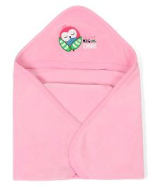 Morisons Baby Dreams Multipurpose Hooded Baby Wrap - Pink