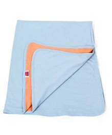 Morisons Baby Dreams Double Layer Baby Cotton Blanket - Blue Orange