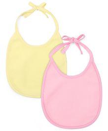 Morisons Baby Dreams Fast Dry Bib Pink Yellow - Pack Of 2