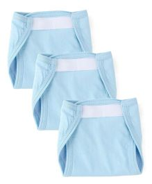 Morisons Baby Dreams Fast Dry Washable Velcro Nappy Set Small Set Of 3 - Blue