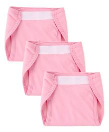 Morisons Baby Dreams Fast Dry Washable Velcro Nappy Medium Set Of 3 - Pink
