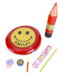 Funworld Stationery Kit With Frisbee Red - Pack Of 7