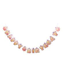 Barbie Theme Birthday Banner - Multicolor